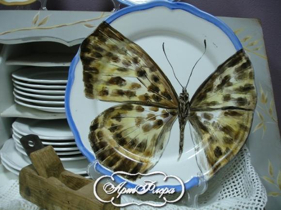 "Тарелка 32 см, из коллекции ""Бабочки на стене"" № 1 , 3500 рублей"