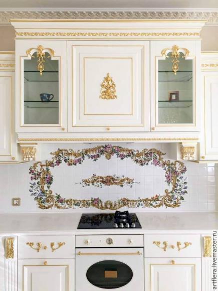 Фартук для кухни в классическом стиле Рококо
