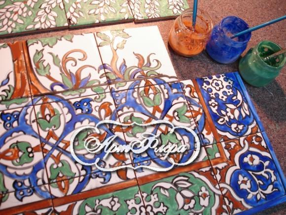 Роспись по кафельной плитке своими руками