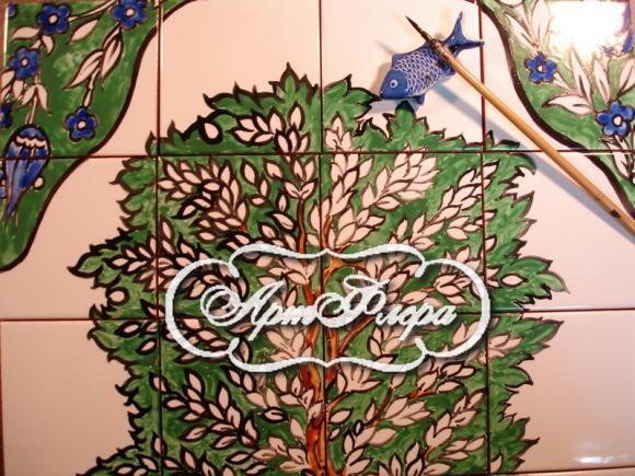 фрагмент росписи плитки