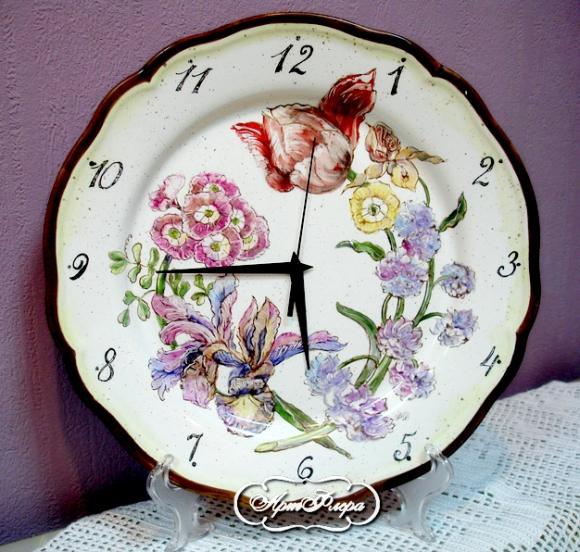 Тарелка - часы , 32 см