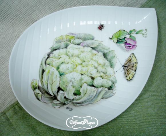 """Блюдо """"Цветная капуста и душистый горошек"""", 20 х 32 см"""