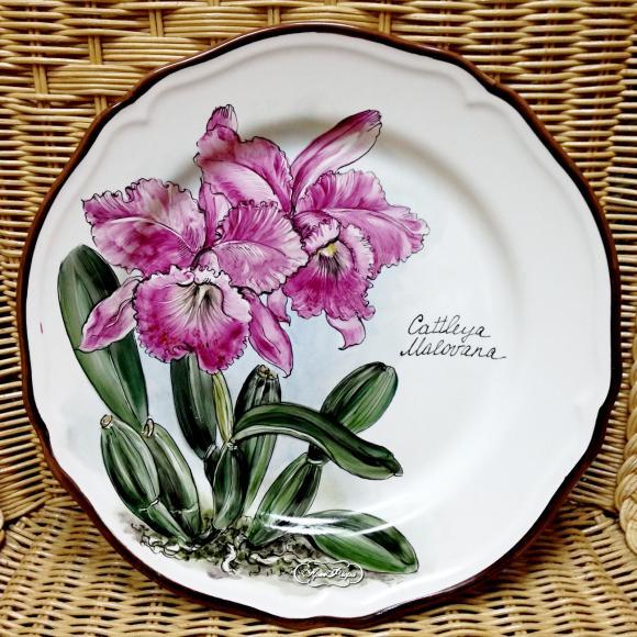 """Тарелка фарфоровая """" Орхидея """" № 3 , 28 см"""