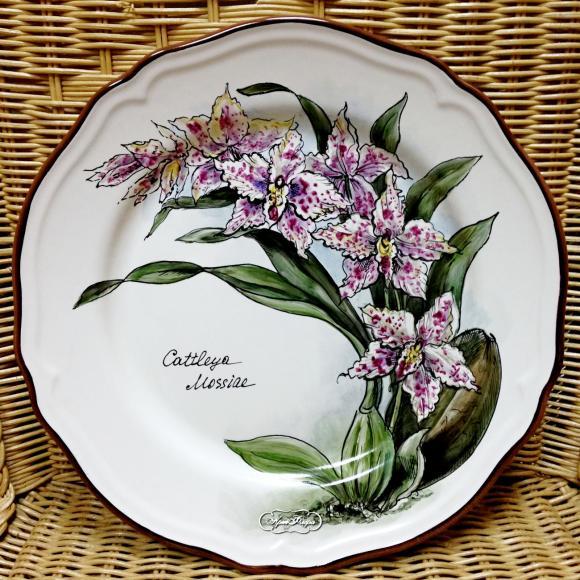 """Тарелка фарфоровая """" Орхидея """" № 2 , 28 см"""