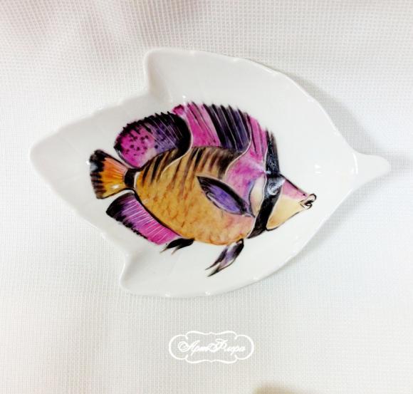 Салатник Рыба  №2 , 14 х 9 см