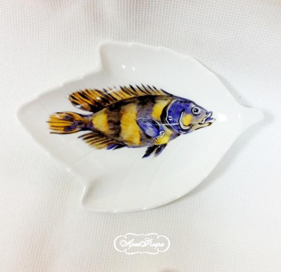 Салатник Рыба  №4 , 14 х 9 см