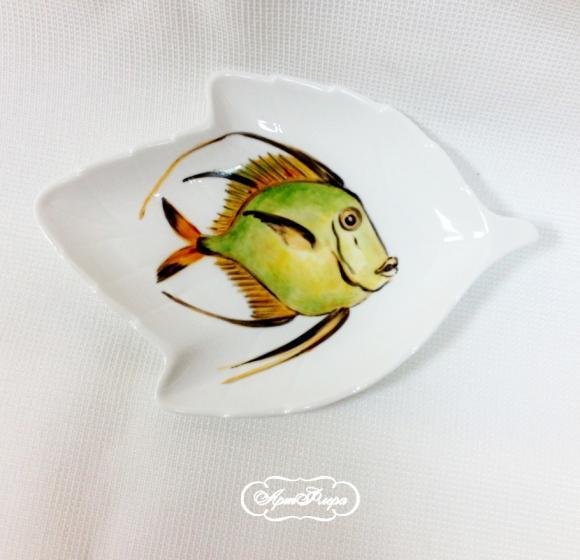 Салатник Рыба  №5 , 14 х 9 см