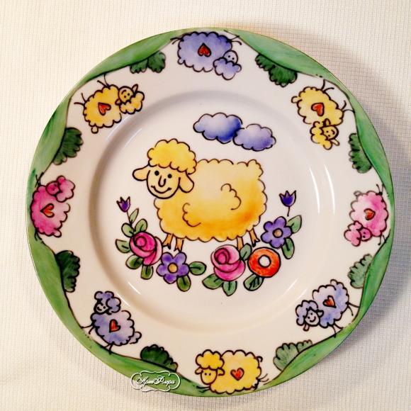 """Набор детской посуды """" Овечки"""", 4 предмета"""