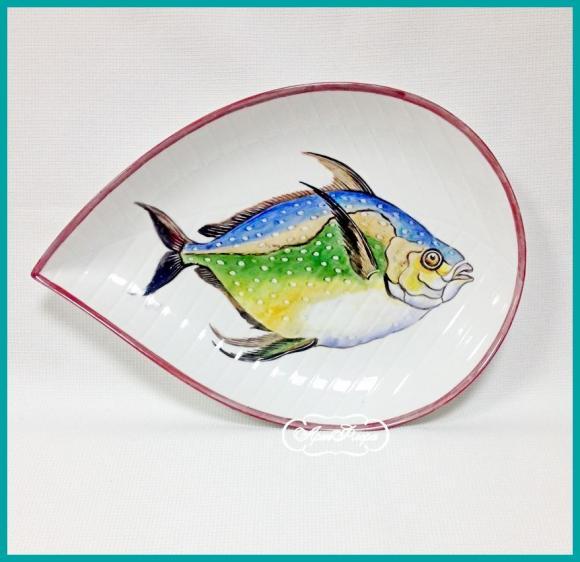 "Тарелка "" Рыба "" № 6 , 20 х 31 см"