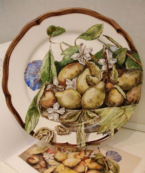Груши и цветы жасмина