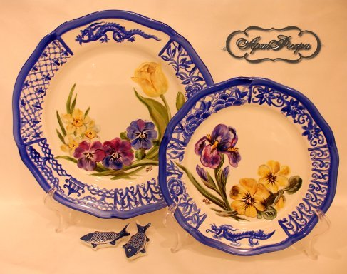 пара тарелок Жду весну