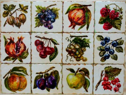 плитка 10 х 10 фрукты