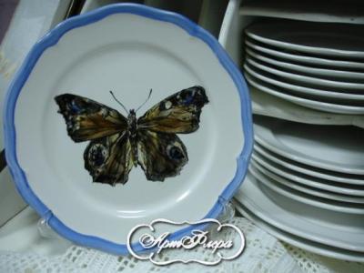 тарелка 22 см бабочка